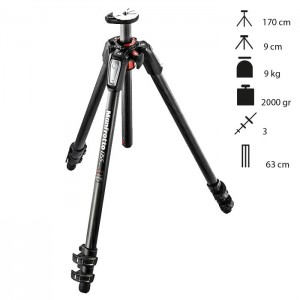 Manfrotto Tripé Carbono MT055CXPRO3