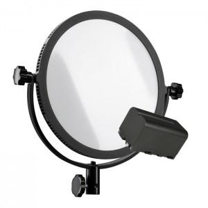 Walimex Pro Luz Vídeo LED Flat Round 300 com Bateria