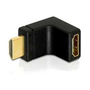 Delock Adaptador HDMI fêmea / HDMI macho - 90º cima