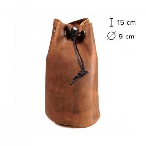 Kalahari Kakoro Bolsa em Pele para Objectiva - 15x9cm