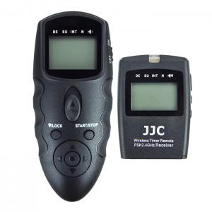 JJC Disparador Programável s/ fios via RF Ligação Cabo 2.5mm