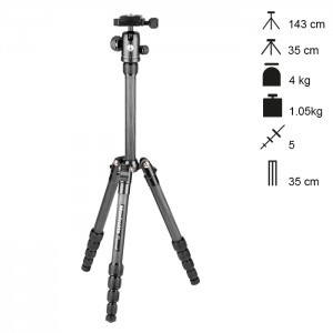Manfrotto Tripé Carbono Element Traveller Small