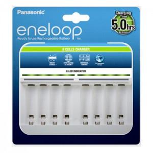 Panasonic Eneloop - Carregador Smart para 8 Baterias AA/AAA