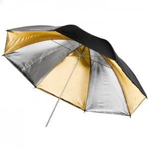 Walimex Pro Sombrinha Reflectora Prateada / Dourada - 109cm