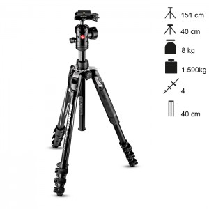 Manfrotto Tripé Compacto BeFree Advanced - Preto