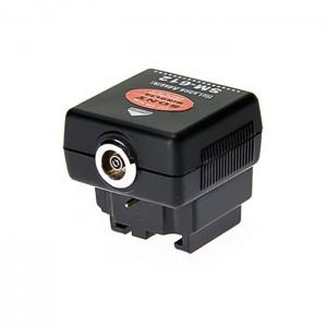 Adaptador Sapata c/ ligação Sincronismo p/ Sony/Minolta