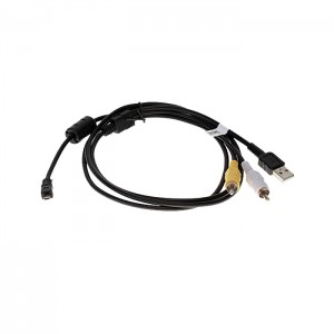 Cabo USB / AV similar ao  UC-E6 para Nikon e outros