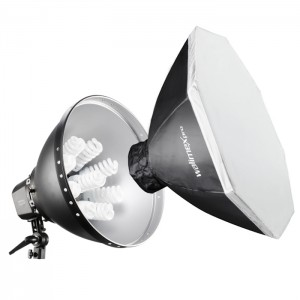 Walimex Pro Kit Luz Daylight 1260 com Softbox Octogonal 80cm