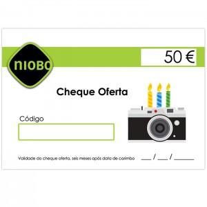 Cheque Oferta 50 Euros Aniversário