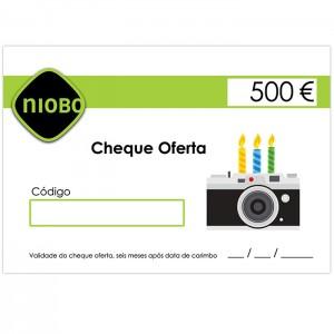 Cheque Oferta 500 Euros Aniversário