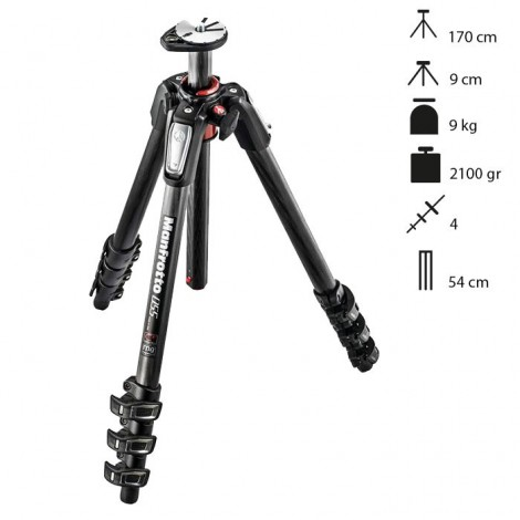 Manfrotto Tripé Carbono MT055CXPRO4