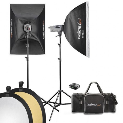 Walimex Pro Kit Flash VE-200/200 Excellence com Softboxes