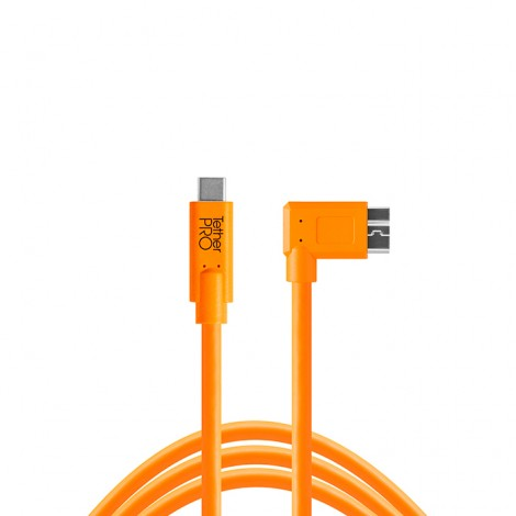 Tether Tools Cabo USB-C / USB 3.0 Micro-B Ângulo Recto - 4,6m