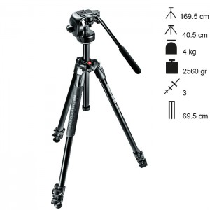 Manfrotto Tripé Completo 290XTA3 + 128RC