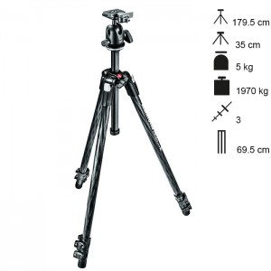 Manfrotto Tripé Carbono Completo MT290XTC3 + 496RC2