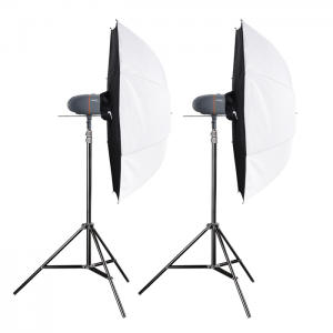Walimex Pro Kit Flash Newcomer 100/100 com Sombrinhas Light Box