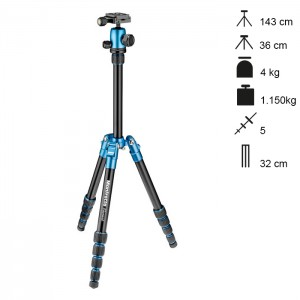 Manfrotto Tripé Element Traveller Small - Azul