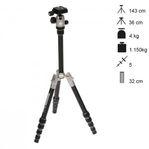 Manfrotto Tripé Element Traveller Small - Cinzento
