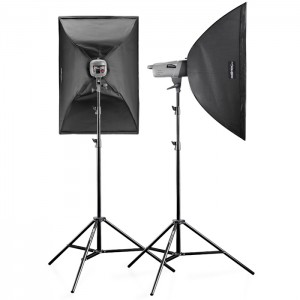 Walimex Pro Kit Flash VE-150/150 Excellence com Softboxes