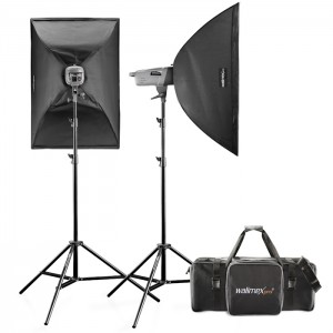 Walimex Pro Kit Flash VE-300/300 Excellence com Softboxes