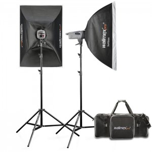 Walimex Pro Kit Flash VE-400/400 Excellence com Softboxes