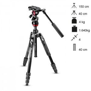 Manfrotto Tripé Vídeo Befree Live Twist Lock