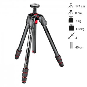 Manfrotto Tripé Carbono 190go! MS - MT190GOC4