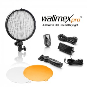 Walimex Pro Luz Vídeo LED Niova 800 Plus Round - Daylight