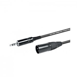 Emelec Cabo XLR macho - Jack 3.5mm macho - 3m