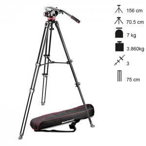 Manfrotto Conjunto Tripé Vídeo MVK502AM-1
