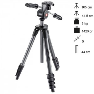 Manfrotto Tripé Compact Advanced - Preto