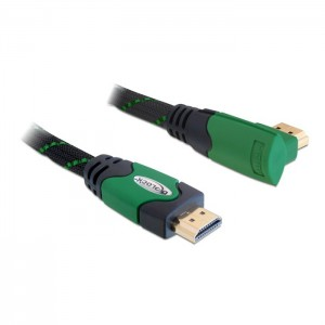 Delock Cabo HDMI / HDMI High-Speed com Ficha 90º - 1mt