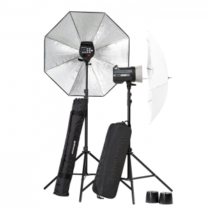 Elinchrom Kit BRX 250/250 To Go com Sombrinhas